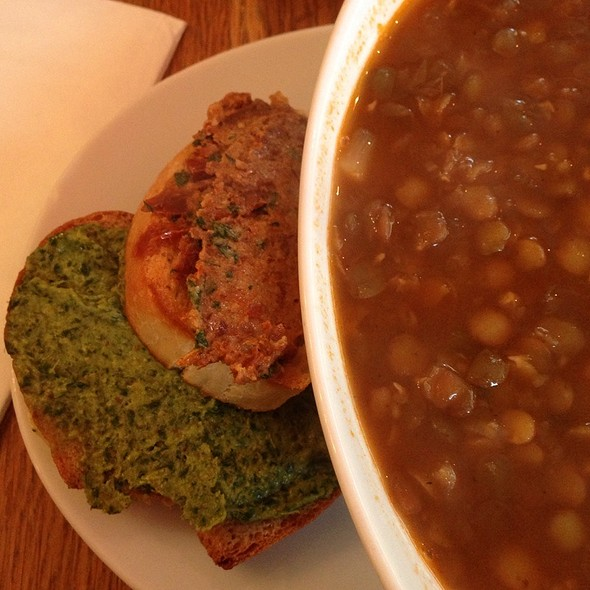 Red Lentil Soup With Crostini