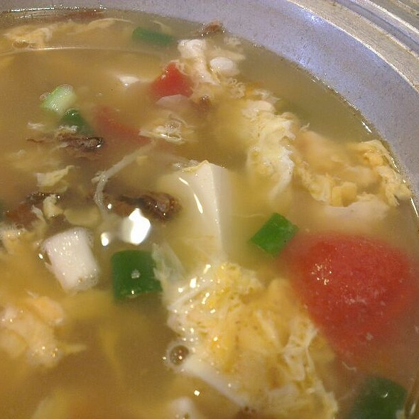 Egg Drop Soup With Tomato And Tofu @ 麗江
