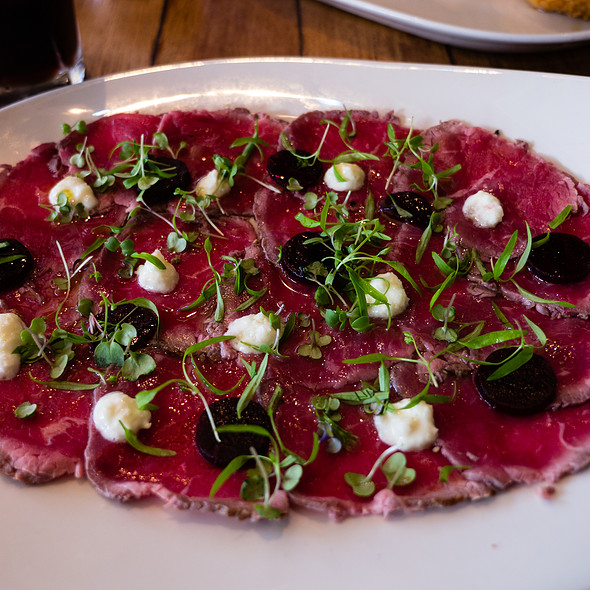 Beef Carpaccio @ The Meat & Wine Co Restaurant