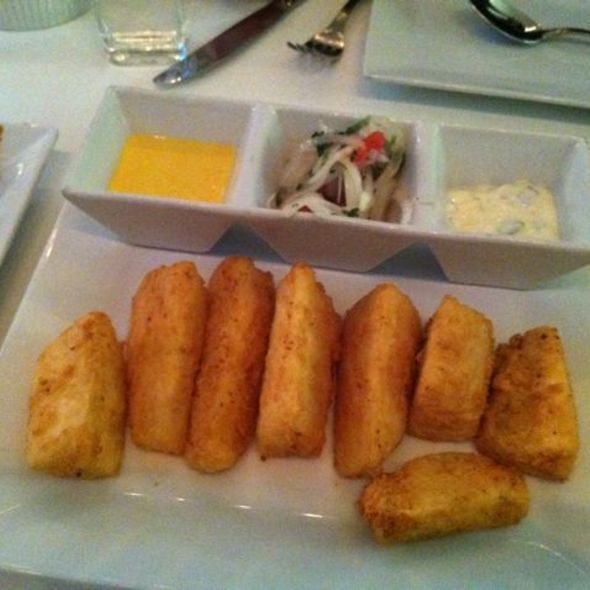 Yucca Fries with 3 sauces @ Ceviche 105