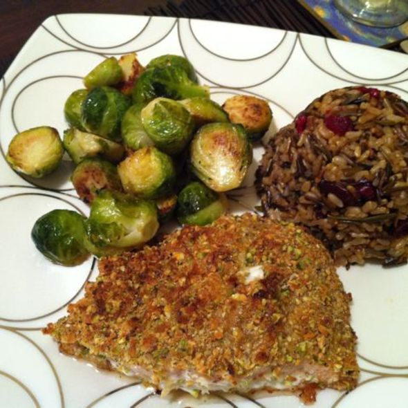 Pistachio-crusted Salmon @ ReMARKable Palate Personal Chef Service