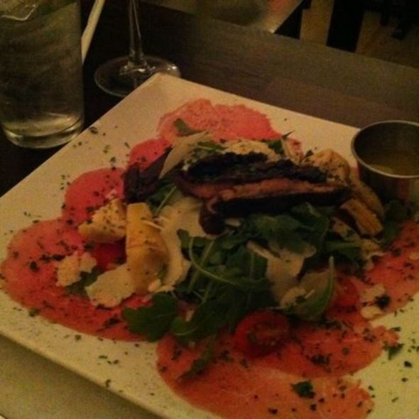 Beef Carpaccio Salad with Portobello Mushrooms @ Fratelli Milano Restaurant