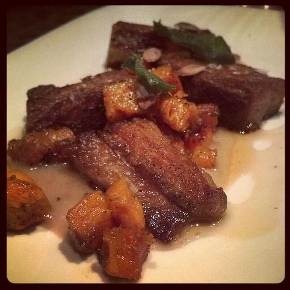 Crispy Pork Belly with Butternut Squash and Bacon Sherry  - Bar Ferdinand, Philadelphia, PA