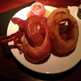Mushroom & Swiss Burger - Fleming's Steakhouse - Brookfield, Brookfield, WI