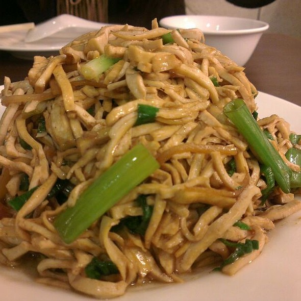 Fried Sliced Hard Tofu @ 家園小館