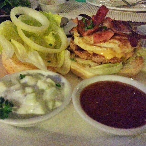 Bacon Cheese Burger With Everything On It @ Tonino's Ristorante