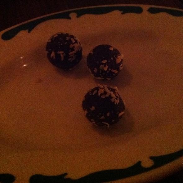 Chocolate Truffles - Miranda Restaurant, Brooklyn, NY