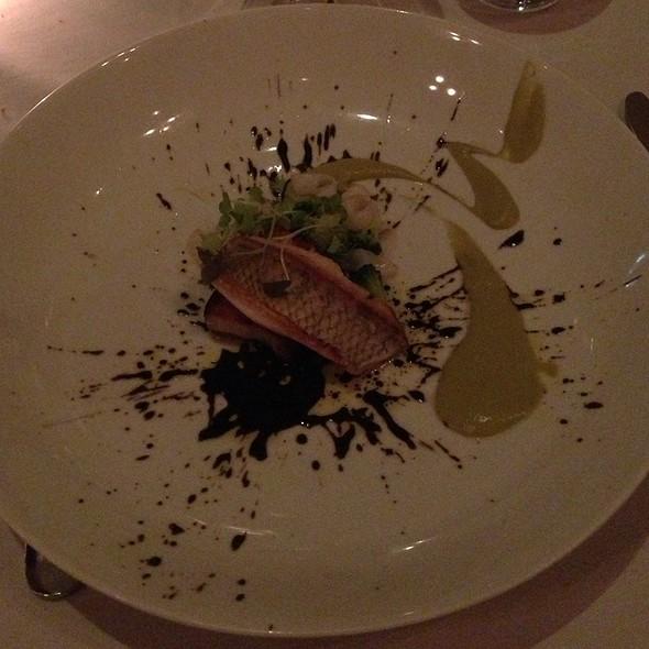 Sea Breem, Calamari, Broccoli, Ink, Pork Belly