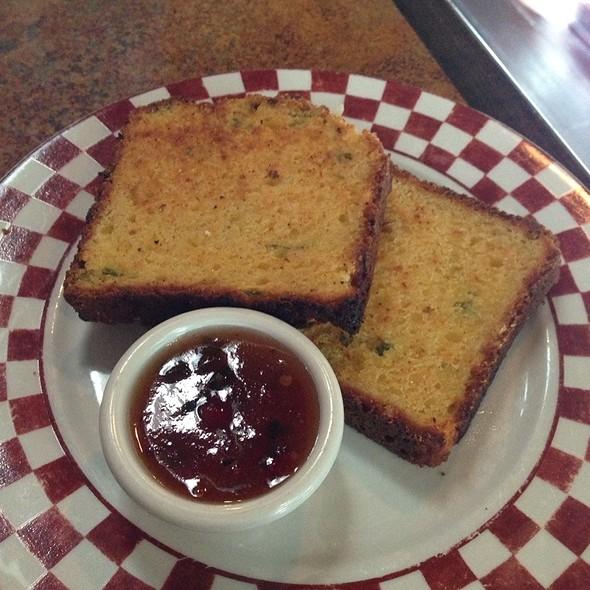 Grilled Chili Cheddar Cornbread @ Dottie's True Blue Cafe
