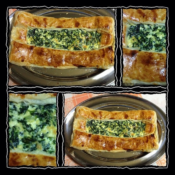 Pie With Ricotta And Spinach In Puff Pastry Crust @ My Home