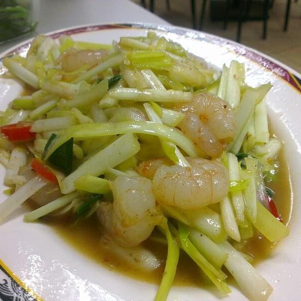Stir Fried Chinese Leek And Shrimp @ 良友小館