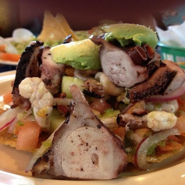 Camarones Y Pulpo Ceviche Tostada @ Mariscos Las Isla Maria's