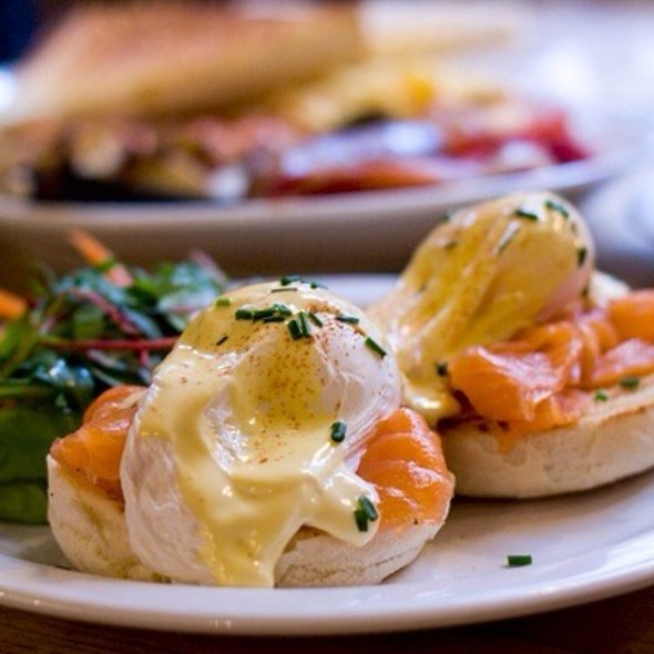 Eggs Royale with smoked salmon @ Breakfast Club, The