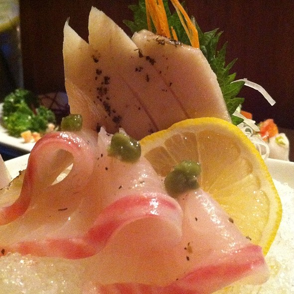 Escolar And Red Snapper Sashimi