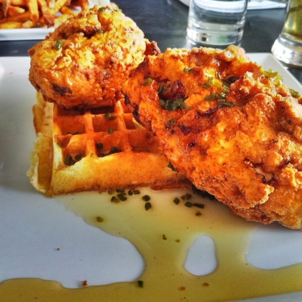 Fried Chicken and Waffles @ Adsum Restaurant