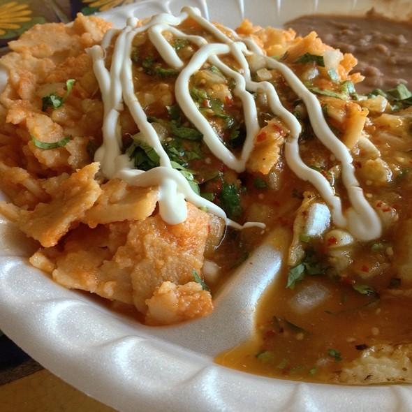 Chilaquiles Con Huevos @ El Molino De Oro