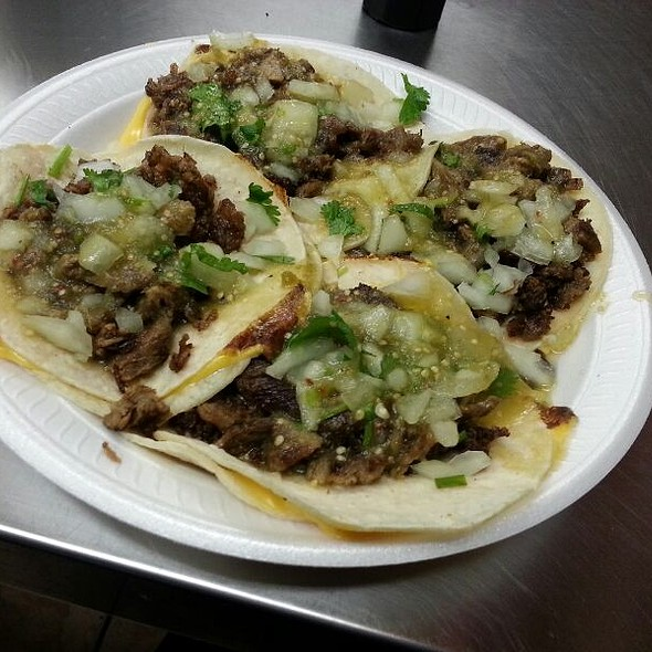 Carne Asada Cheese Tacos  @ Taqueria El Tapatio