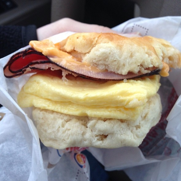 Egg And Ham And Cheese Biscuit @ Burger King