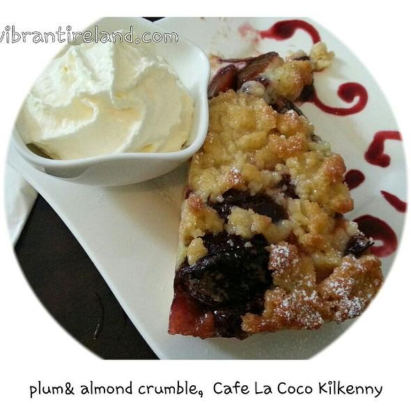 Plum And Almond Crumble @ Cafe La Coco