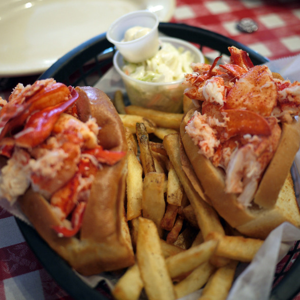 Double Play Naked Lobster Rolls  @ Old Port Lobster Shack