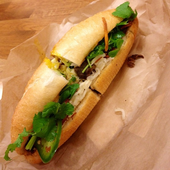 Sunny-Side Beef Banh Mi