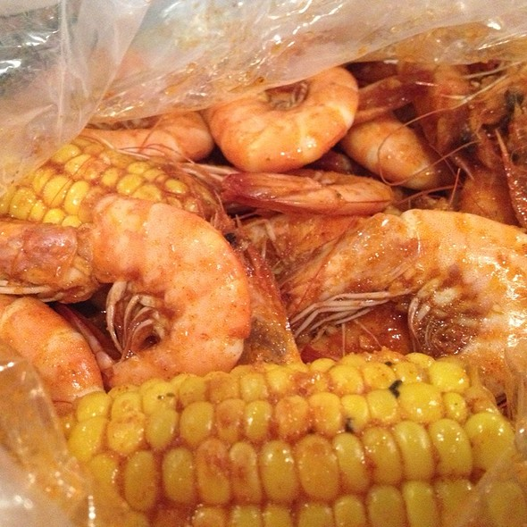 The whole sha-bang shrimp With Corn