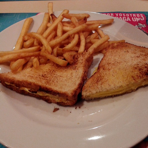 Grilled Cheese Sandwich With Fries @ Vips