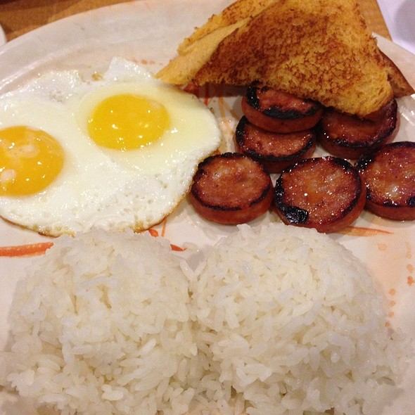 Portuguese Sausage & Eggs With Home Baked Hawaiian Sweet Bread @ Island Sushi and Hawaiian Grill at the Plaza