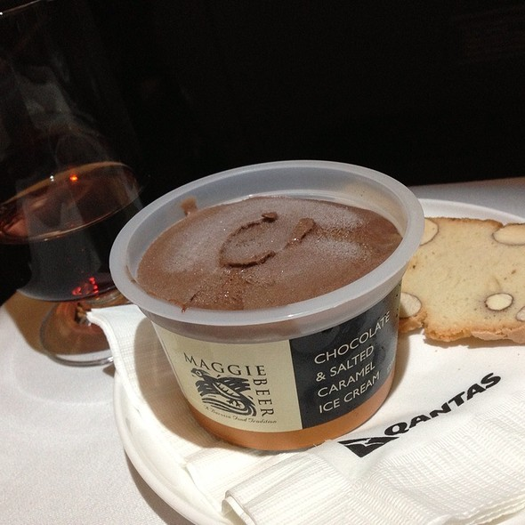 Chocolate And Salted Caramel Ice Cream @ Qantas