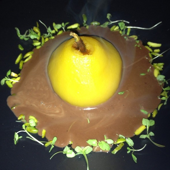 Pear With Hot Chocolate Soy Latte @ The Moat