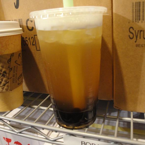 Mango Green Tea Boba