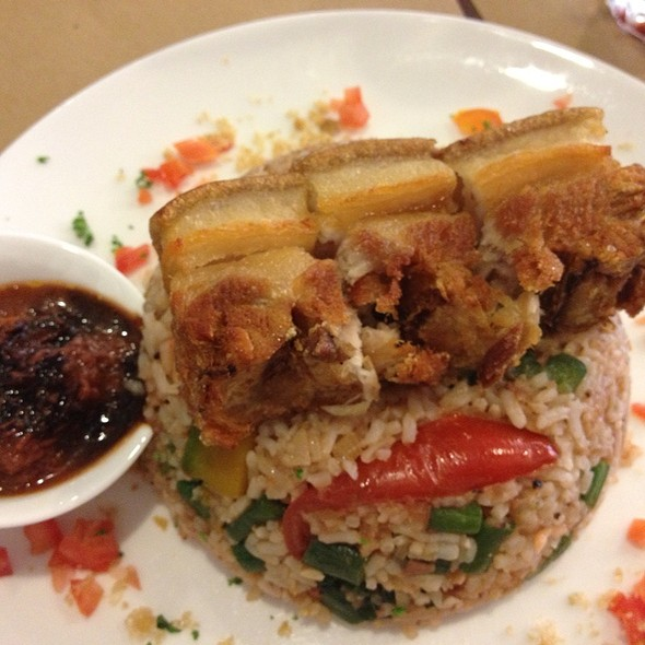 Pinakbet Rice With Lechon Bagnet And Chocolate Bagoong @ AK (Angel's Kitchen) Bistro