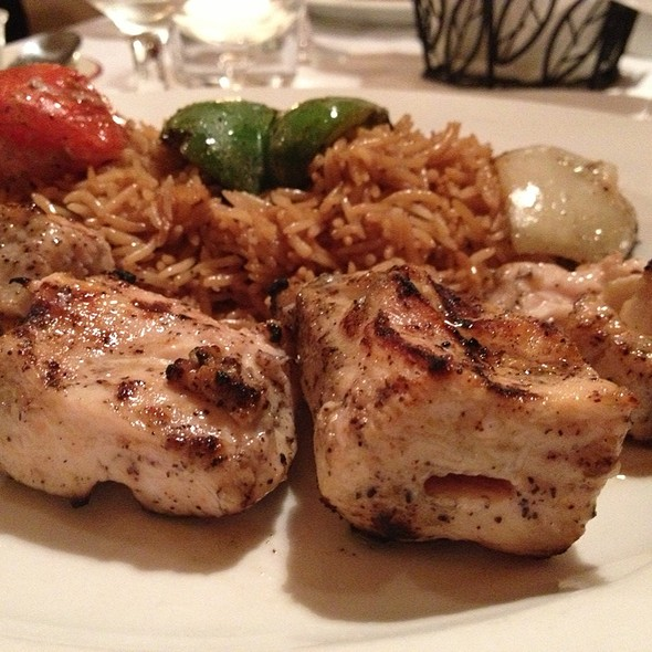 chicken kabob - The Helmand Restaurant, Baltimore, MD