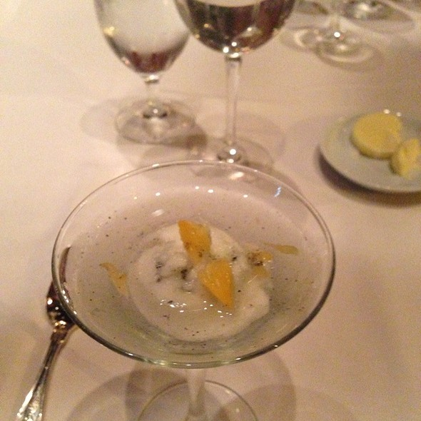 Tangarine Sorbet Martini - The Green Room at HOTEL DU PONT, Wilmington, DE