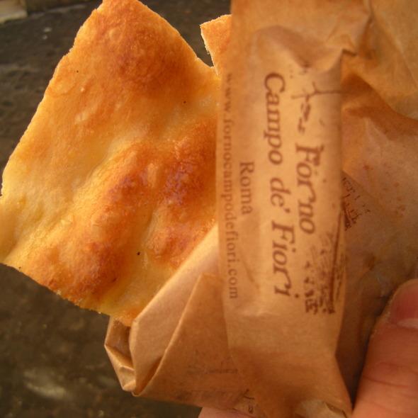 Pizza Bianca (Breakfast Pizza) @ Forno Campo de' Fiori