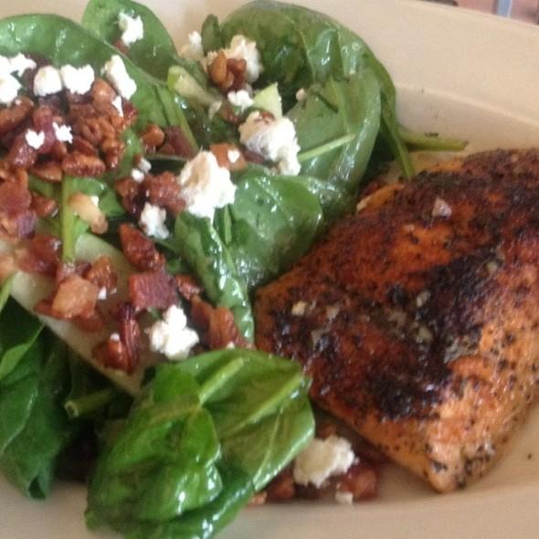Warm Spinach Salad With Salmon - Mitchell's Fish Market - Winter Park, Winter Park, FL