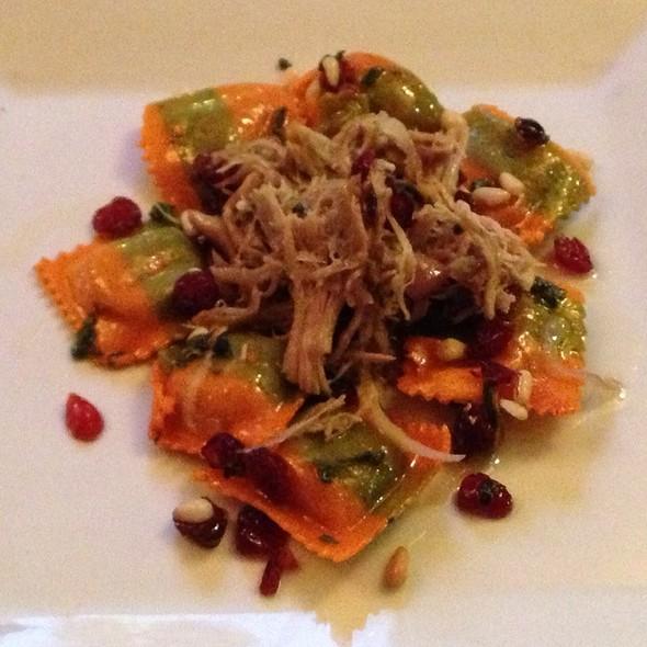 Pumpkin Ravioli With Duck @ saute