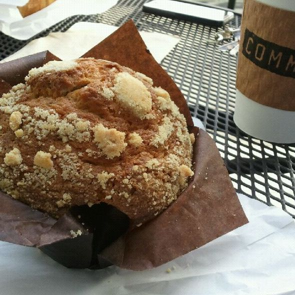 Blueberry muffin and coffee @ Coffee Commissary