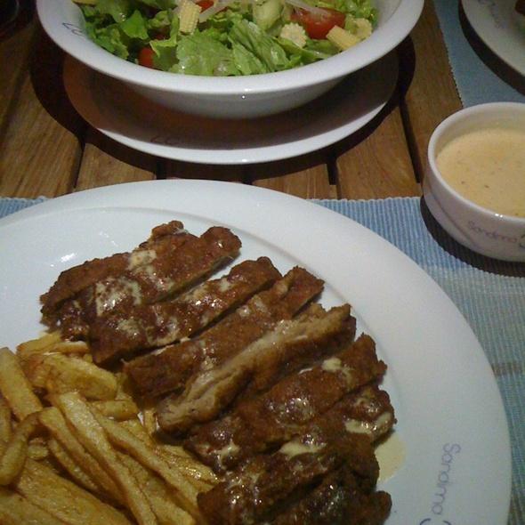Veal Schnitzel @ Sandima 37 Suites