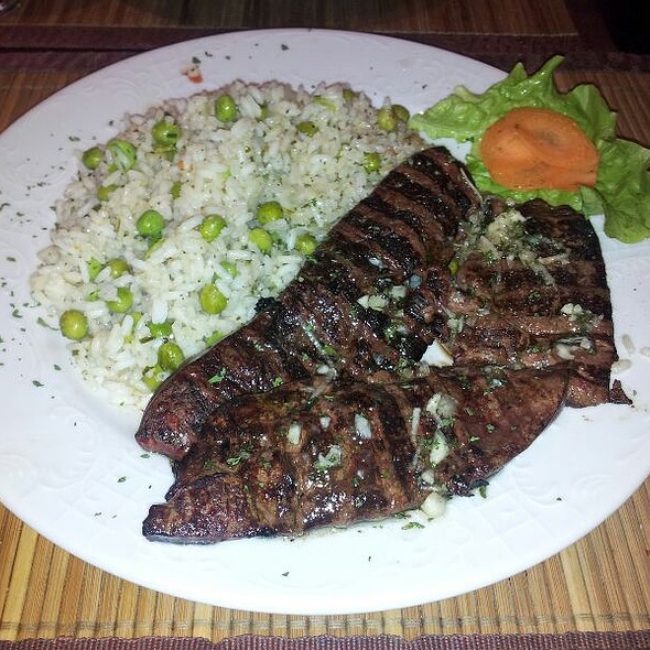 Grilled baby Veal Liver With Rice And Green Beans @ Xxl Grill