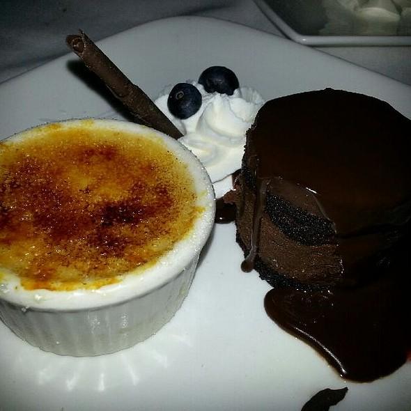 Creme Burlee And Chocolate Cake - Summit House - Fullerton, Fullerton, CA