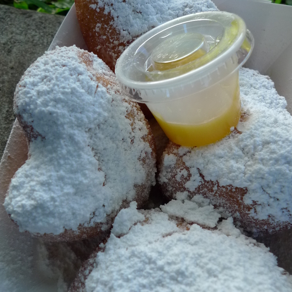Beignets with lilikoi butter @ KCC Farmers Market