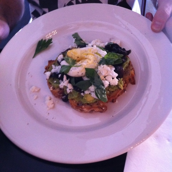 Smashed Avo, Mushrooms, Fetta Topped With A Poached Egg And Basil! @ Friends of Mine