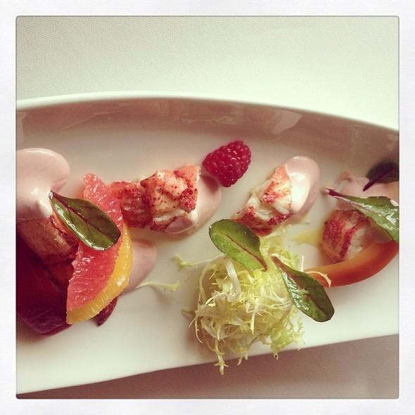 Michel Roux - Lobster Salad Served On A Delicate Citrus Jelly, Raspberry Vinaigrette @ Le Normandie – Mandarin Oriental Bangkok