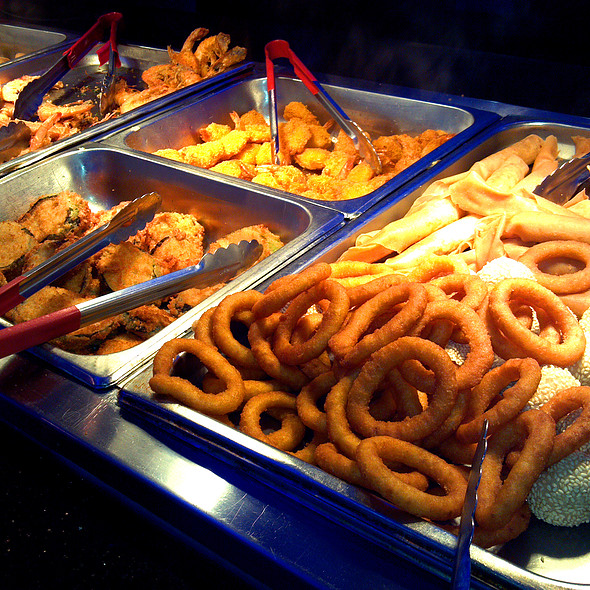 Varies Asian; American and Italian Buffet dishes @ Teppanyaki Grill & Supreme Buffet