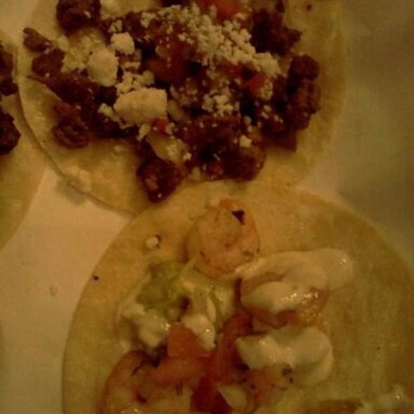 Carne Asada and Camarones Tacos