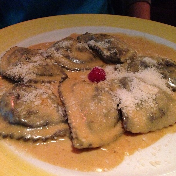 Black Ravioli With Lobster Sauce - Caffe Abbracci, Coral Gables, FL