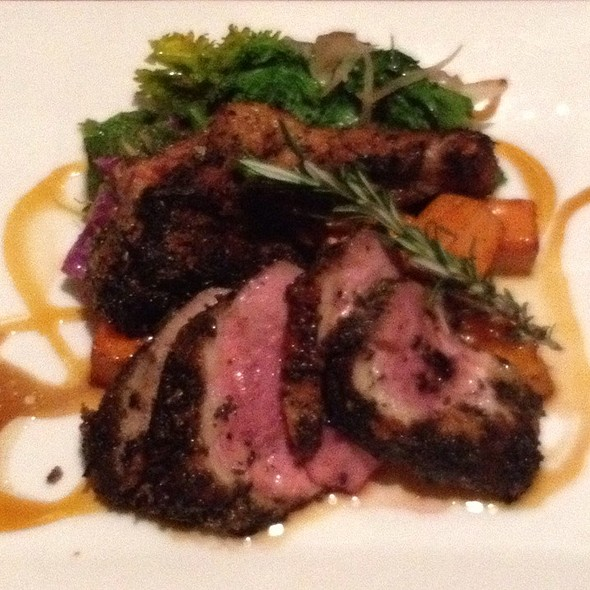 Duck Breast With Roasted Sweet Potatoes  - Frog Hollow Tavern, Augusta, GA
