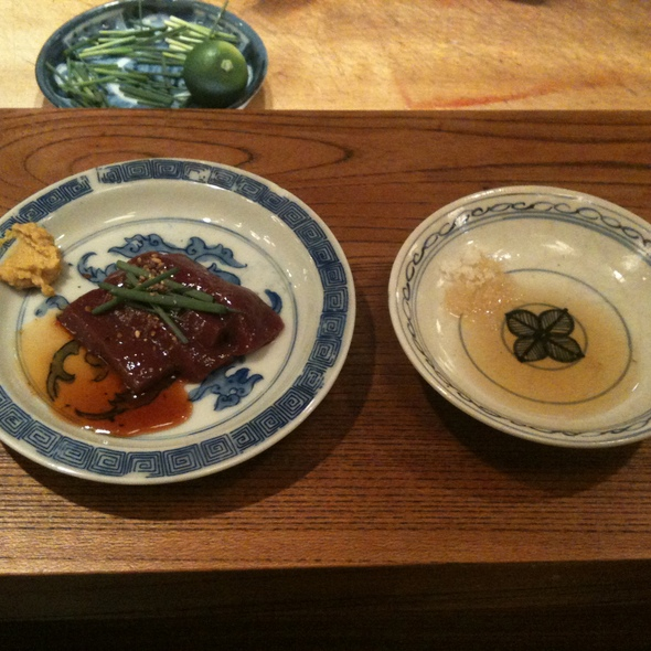 Beef Heart Sashimi @ Gyuho