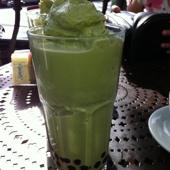 urth cafe boba green tea foodspotting